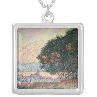 Forest near St. Tropez, 1902 Silver Plated Necklace