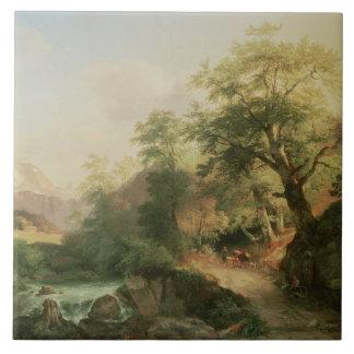 Forest near Vienna, 1852 (oil on canvas) Tile