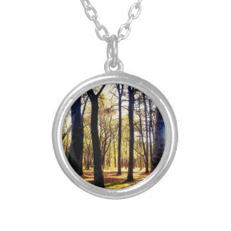 Forest Round Pendant Necklace