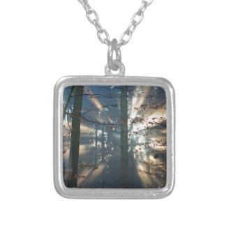 Forest Square Pendant Necklace