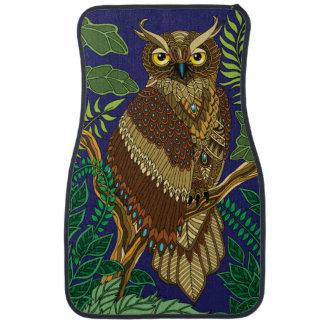 Forest Night Owl Car Mat