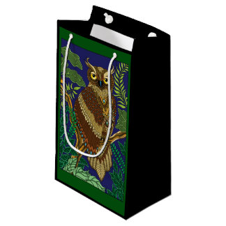 Forest Night Owl Small Gift Bag