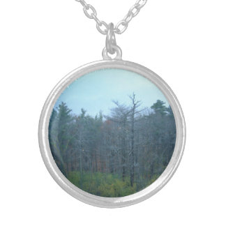 Forest of dreames round pendant necklace