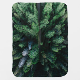 Forest of trees colorful green baby kids blanket