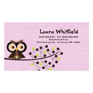 Forest Owl Woodland Hoot Night Business Card