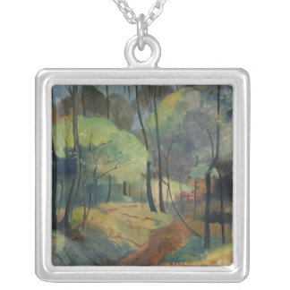 Forest Path, 1920 Silver Plated Necklace