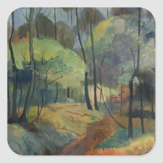 Forest Path, 1920 Square Stickers