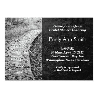 "Forest Path Bridal Shower Invitations 5"" X 7"" Invitation Card"