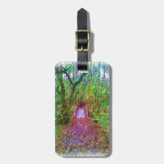 Forest Path Drawing Luggage Tag