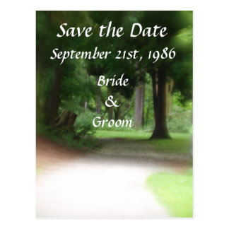 Forest Path Wedding Postcards