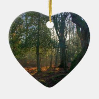 Forest Peace Ceramic Heart Decoration
