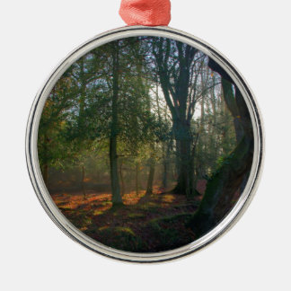 Forest Peace Silver-Colored Round Decoration