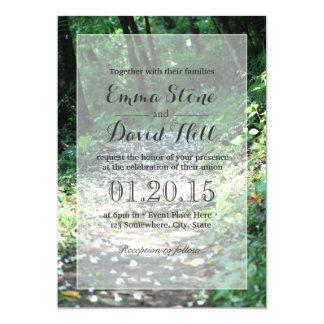 Forest Petal Path Wedding Invitations