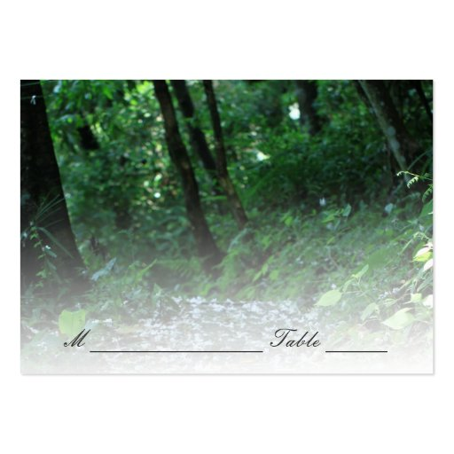 Forest Petal Path Wedding Place/Seating Card Business Cards