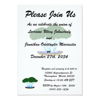 forest planting bonsai graphic green invert 13 cm x 18 cm invitation card