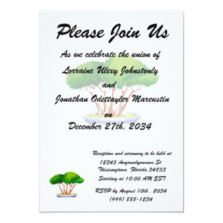 forest planting bonsai graphic green.png 13 cm x 18 cm invitation card