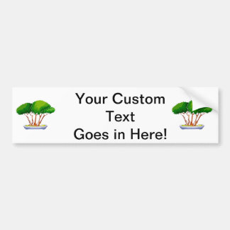 forest planting bonsai graphic green.png bumper sticker