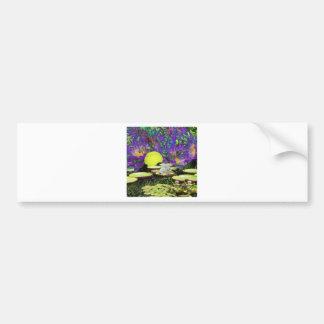 Forest Pond and Tennis Bumper Sticker