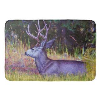 Forest Prince, Mule Deer Buck Bath Mats
