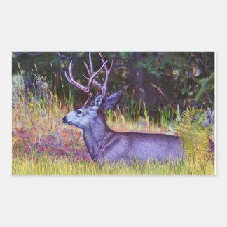 Forest Prince, Mule Deer Buck Rectangular Sticker
