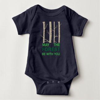 Forest Pun Baby Bodysuit