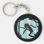 Forest Punkin Man Basic Round Button Key Ring