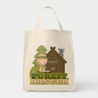 Forest Ranger Boy Tshirts and Gifts Tote Bags
