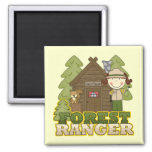 Forest Ranger - Brunette Girl Fridge Magnet