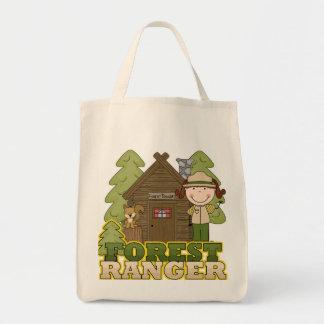 Forest Ranger - Brunette Girl Grocery Tote Bag