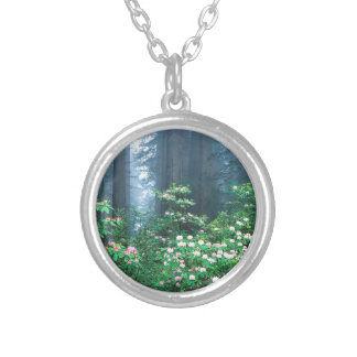 Forest Redwoods Blooming Rhododendrons Personalized Necklace