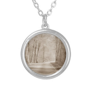 Forest road necklace