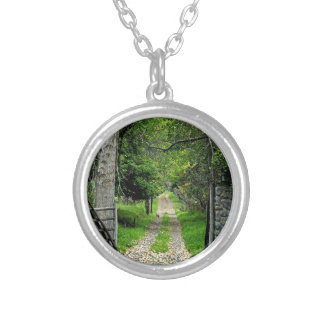 Forest Road To Enchanted Garden Pendant