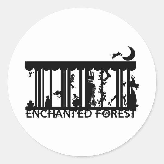 forest round sticker