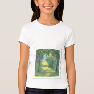 Forest scene T-shirt from original painting by Ann