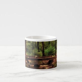 Forest Scene with a Stream and Bridge Espresso Mug