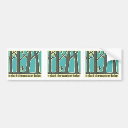Forest Silence Bumper Sticker