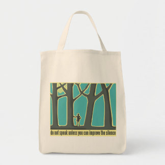Forest Silence Grocery Tote Bag