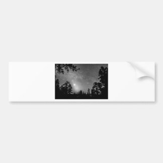 Forest Silhouettes Constellation Astronomy Gazing Bumper Sticker
