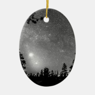 Forest Silhouettes Constellation Astronomy Gazing Ceramic Oval Decoration