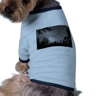Forest Silhouettes Constellation Astronomy Gazing Ringer Dog Shirt