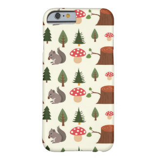 Forest Squirrel Pattern iPhone 6 Case