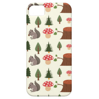 Forest Squirrel Pattern iPhone 5 Case
