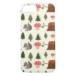 Forest Squirrel Pattern iPhone 7 Case
