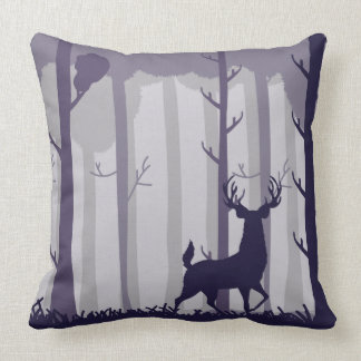 Forest Stag Illustration Cushion