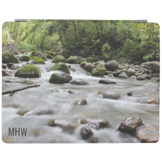 Forest Stream custom monogram device covers iPad Cover