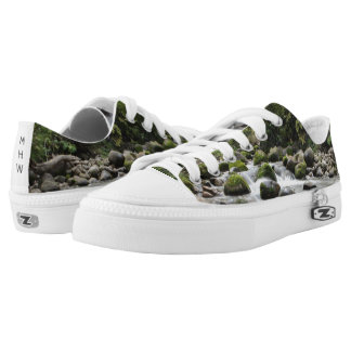 Forest Stream custom monogram shoes