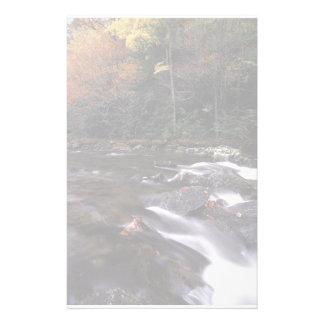 forest stream stationery design