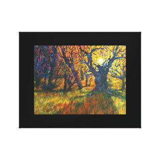 Forest sunrise 2 canvas print