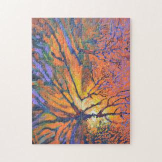 Forest sunrise jigsaw puzzle