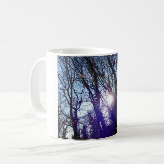 Forest sunrise mug